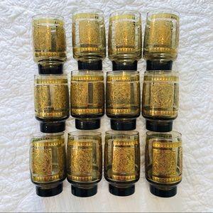 Set of 12 vintage Libbey glasses